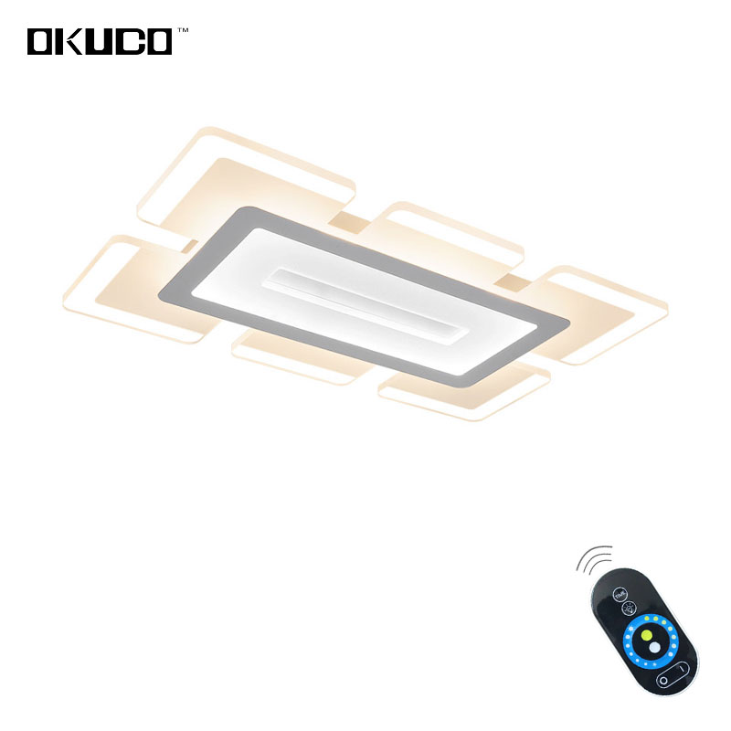 Remote Modern LED ceiling lights fixtures acrylic lampshade dimmer enough Brightness living room bedroom for 15-25 meters new ceiling lights led lamp remote control round and squar for bedroom living room lights fixtures home decorative lampshade