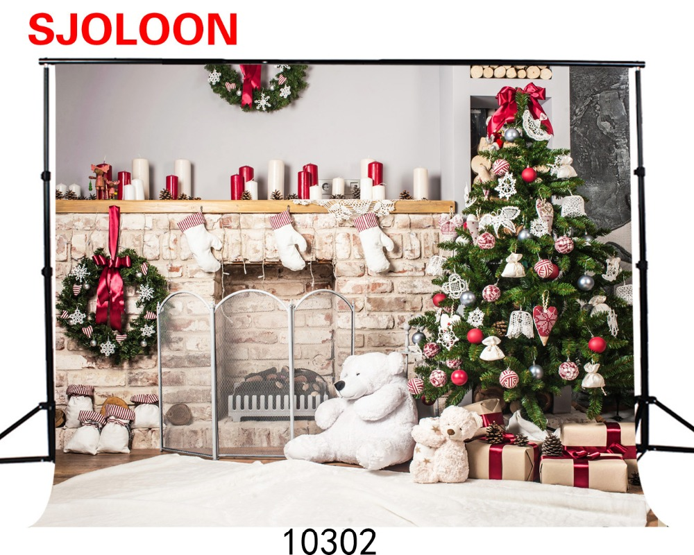 SJOLOON Christmas tree indoor photography background 9X6FT Vinyl backdrops for photography Photography-studio-backdrop bear sjoloon christmas vinyl photography background wooden floor and baby photography backdrops for studio thin vinyl prop 6x6ft 9341 page 8