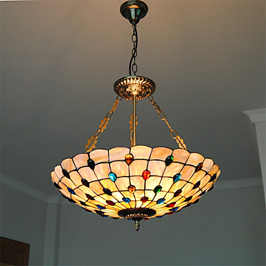 Us 132 0 40 Off 21 Inch Retro Tiffany Pendant Lights Shell Shade Living Room Dining Light Fixture In From Lighting On