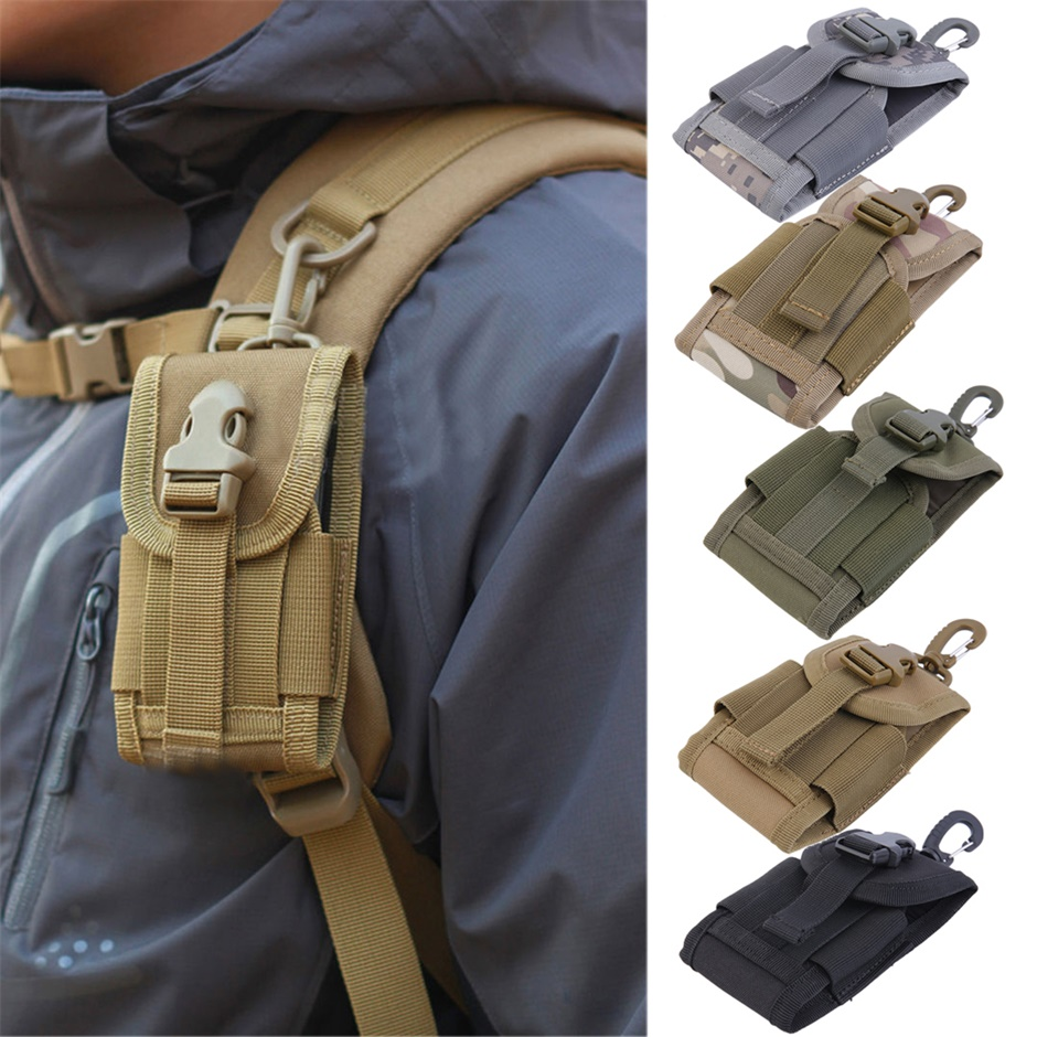 4.5 inch Oxford Universal Army Tactical Bag for Mobile Phone Hook Cover Pouch Case Hard Wearing Heavy Duty