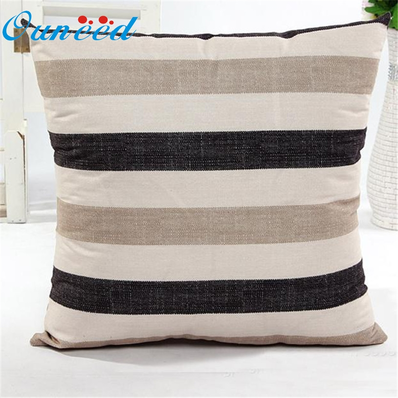 Inexpensive Decorative Pillow Covers : ?Ouneed 45cm*45cm decorative ? striped striped Cushion Cover Cheap Pillow Case ? Cotton Cotton ...