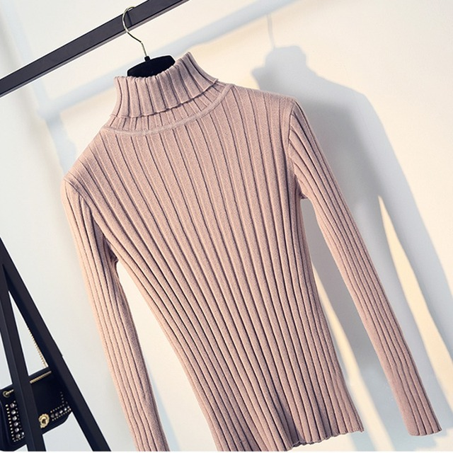 Apricot Soft Sweater For Women Turtleneck Thin Pattern Sweaters And Pullovers Tricot Pull Femme Tops Jersey Jumpers 2