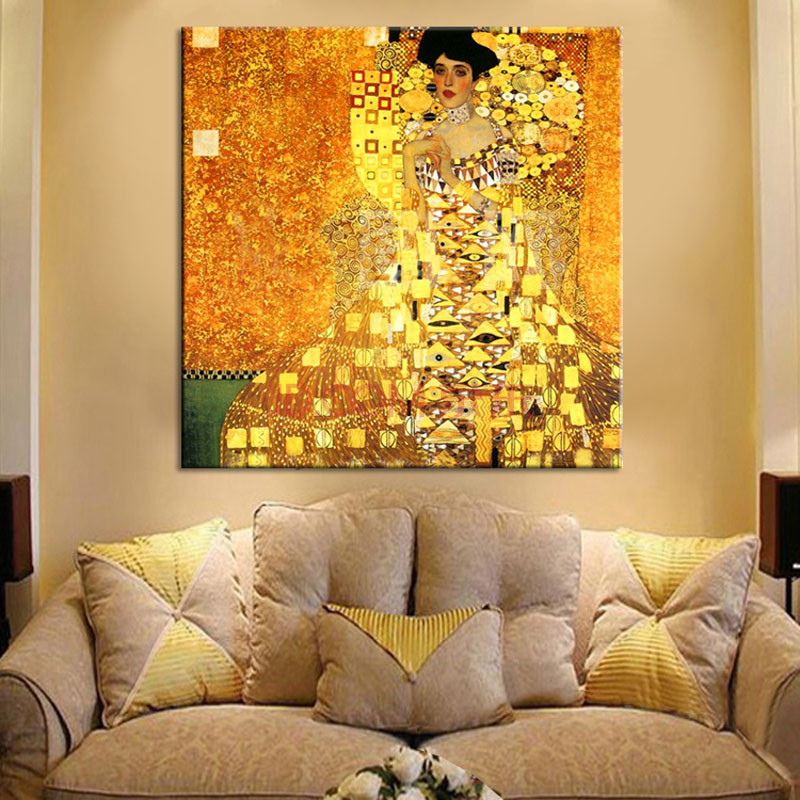 Gustav Klimt Printed Canvas Printing On Wall Art Prints Picture For ...
