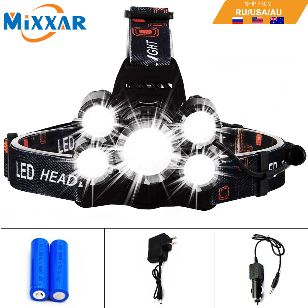 EZK20 T6 4Q5 13000LM LED Headlight Headlamp Rechargeable Head Lamp with Battery Charger for Outdoor Fishing Hunting недорго, оригинальная цена