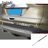 For Ford Kuga 2017 2018 2019 car body cover stainless steel Rear tail door bottom tailgate Trunk Lid Tail Gate trim 1pcs