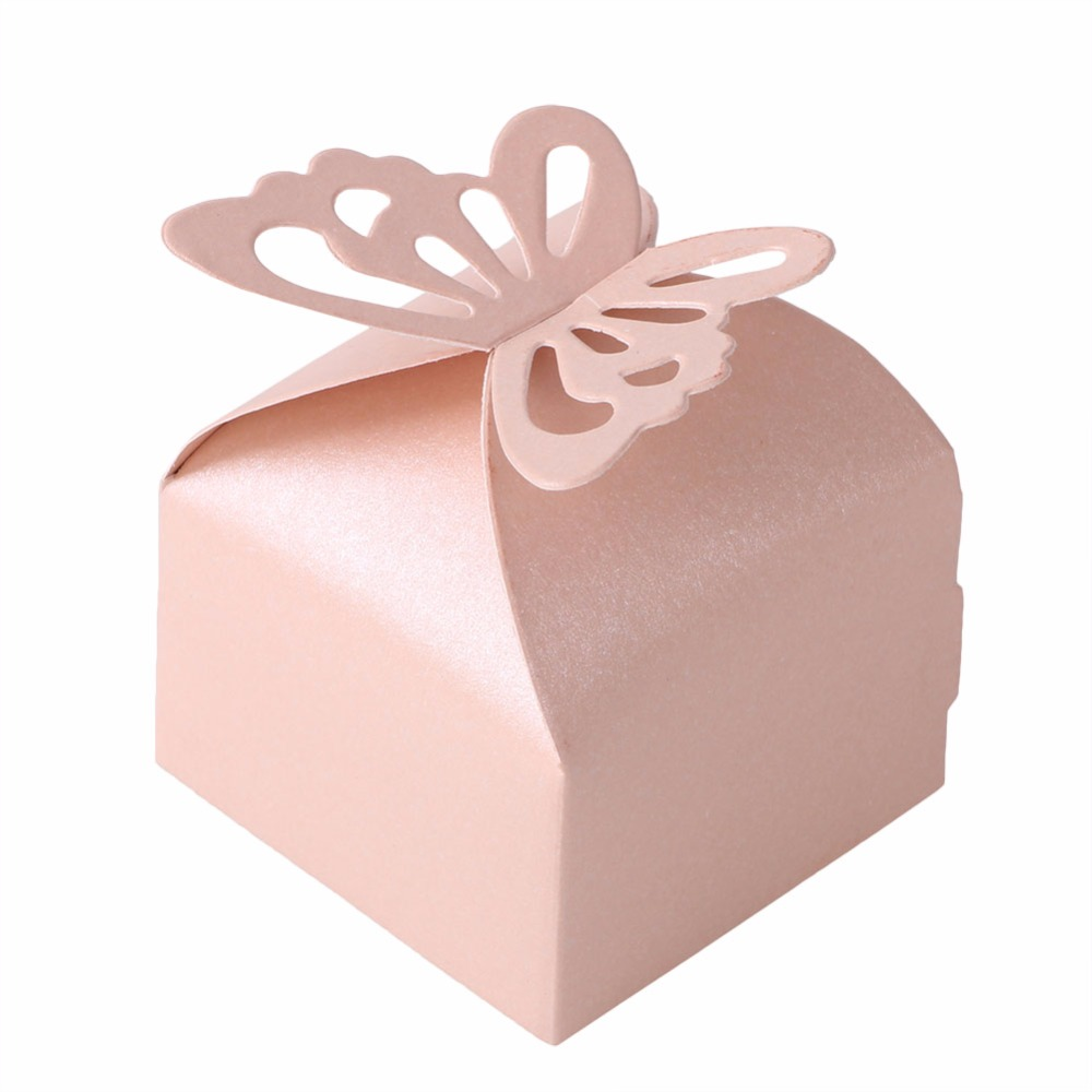 10PCS Candy Boxes Butterfly Gift Favor Gift Candy Bonbonniere Boxes ...