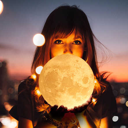 3D In 15 cm Mặt Trăng Đèn Đầy Màu Sắc Thay Đổi Cảm Ứng Usb Led Ánh Sáng Ban Đêm Trang Trí Nội Thất Sáng Tạo Quà Tặng Cho Con Gái Drop Shipping vận chuyển