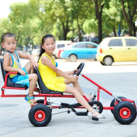 2 Seats 4 Wheels Children's Vehicle Kids Kart Racing Kart Outdoor Fun And Sports Pneumatic Tire Children's Bicycles