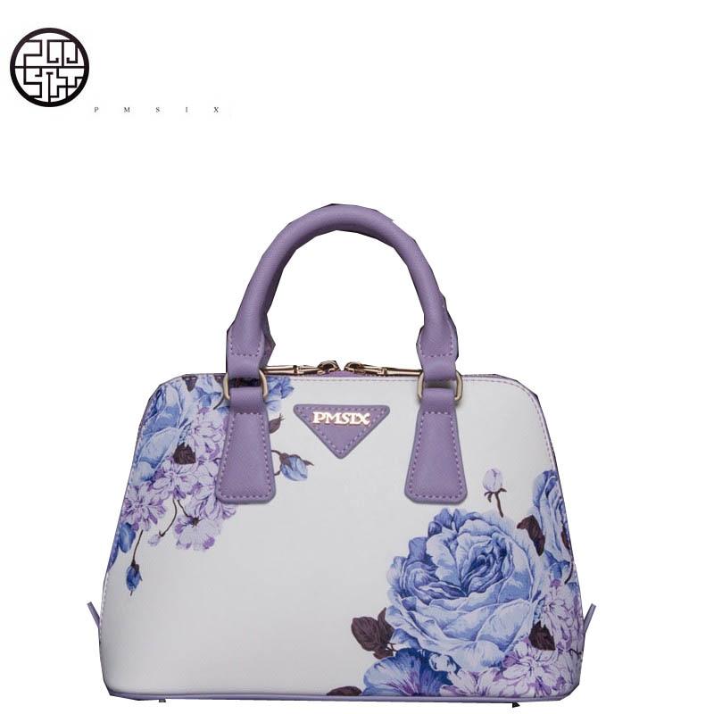 Pmsix cruzado de hombro 2017 moda mini y conchas bolsa oblicuo de de manos en de huellas bolso Bolsas maletas Bolsos Mensajero Asa de femenino superior de InIYrAOw