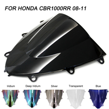 motorcycle rear fender mudguard rear splash license plate frame bracket for honda cbr1000rr cbr 1000rr 2008 2011 2009 2010 ABS Windscreen For Honda CBR1000RR CBR 1000RR 2008 2009 2010 2011 Double Bubble Motorcycle Windshield Wind Deflectors