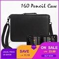 160 отверстие складной PU кожаный школьный пенал для карандашей большой емкости портативный Карандаш сумка для цветной гель-карандаш ручка ч...