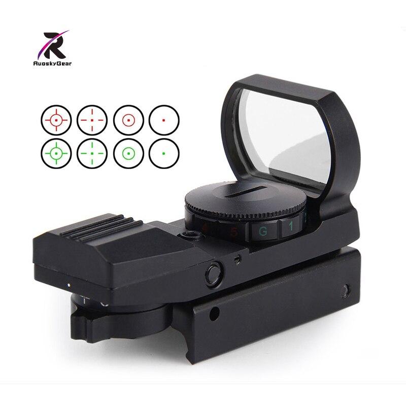 Airsoft Chasse Top 11mm/20mm Rail Optique Portée Holographique Red Dot Sight Reflex 4 Réticule Tactique Gun accessoires