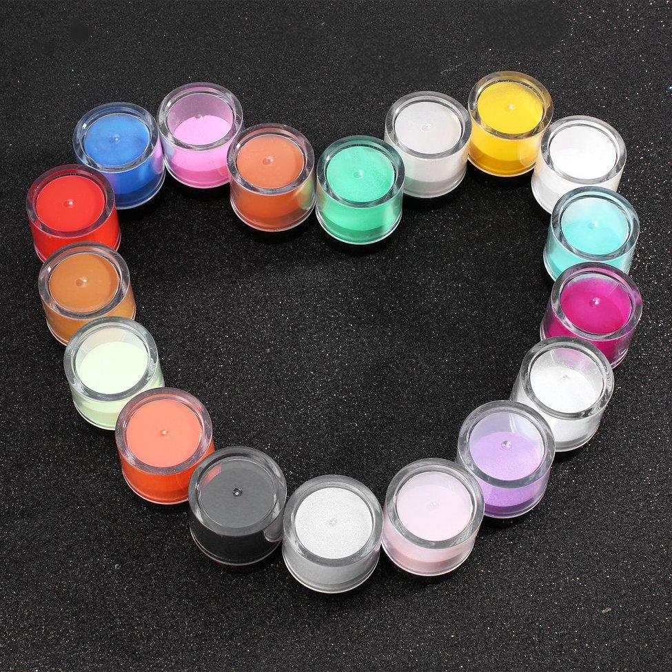 Mixed Nail Glitter Hexagon Shape Nail Art Powder Glitters for Art Glitter Powder Dust Sheets Tips