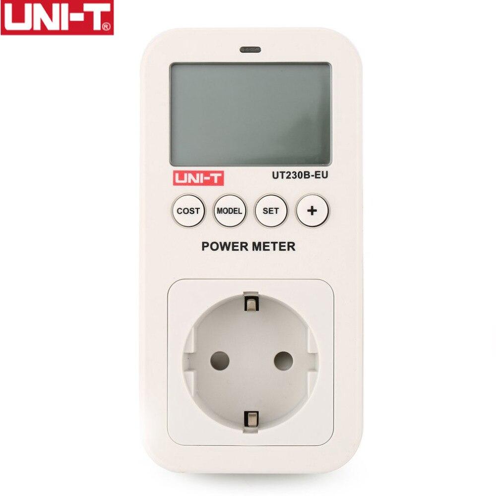 UNI-T UT230B-EU Wattmetro Tensione Corrente Costo di Frequenza Misuratore di Potenza LCD Consumo di energia Monitor Presa Spina di UE