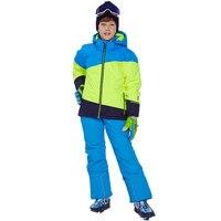 Детский лыжный костюм, зимняя утепленная одежда для мальчиков, теплые спортивные костюмы с капюшоном для мальчиков, куртка для сноуборда, ш