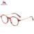 Meguste Marca de Moda Designer De Óculos TR90 Quadro Retro Rodada Óculos De Sol senhora Mulheres & homens oculos de grau Óptico.