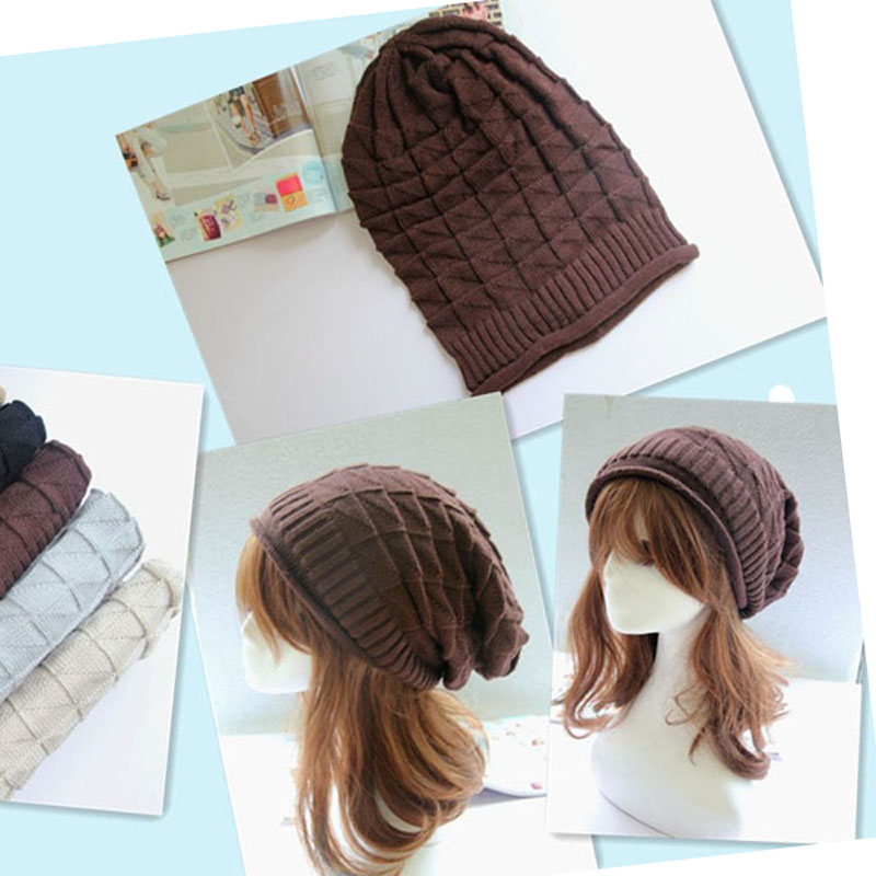 free shipping 200PCS/LOT winter women beanie Skullies Hiphop hats Warm knitted ski hat,baggy crochet cap,bonnets femme gorros alishebuy winter women men hiphop hats warm knitted beanie baggy crochet cap bonnets femme en laine homme gorros de lana