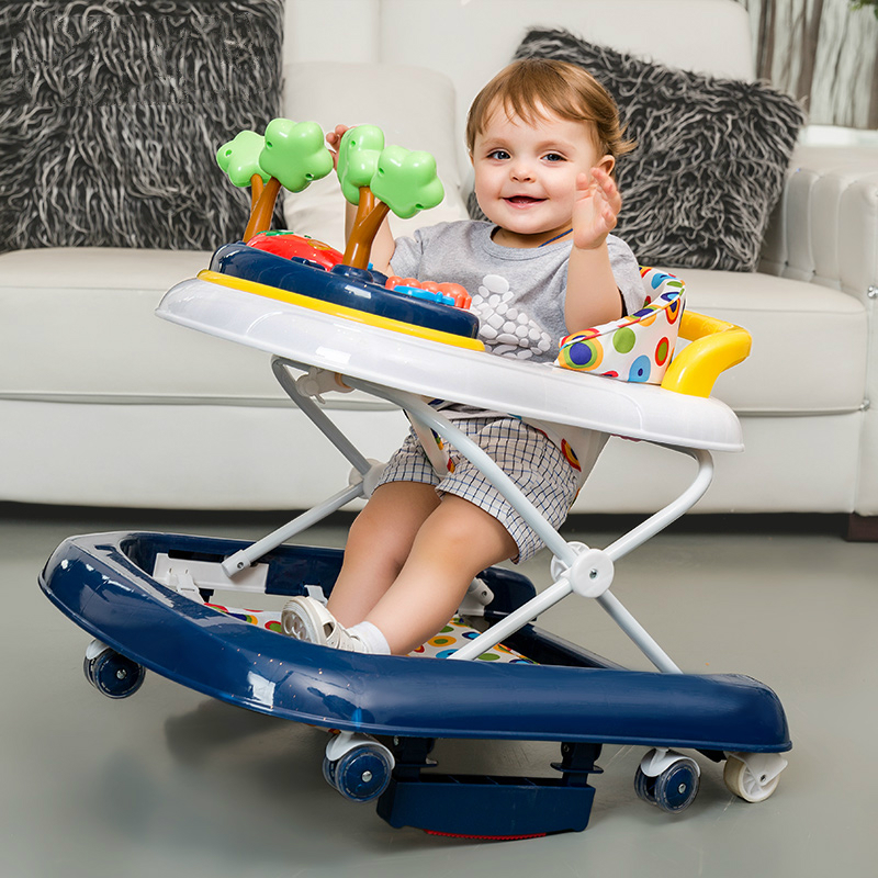 Hot Sale Baby Walker Rocking Horse Rollover Prevention Multifunctional Children Baby Walker U Type With Music Toy happy toy hot sale life size horse toy mechanical horse toys walking horse toy