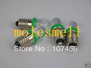 Free Shipping 50pcs GREEN E10 12V Led Bulb Light Lamp For LIONEL 1447