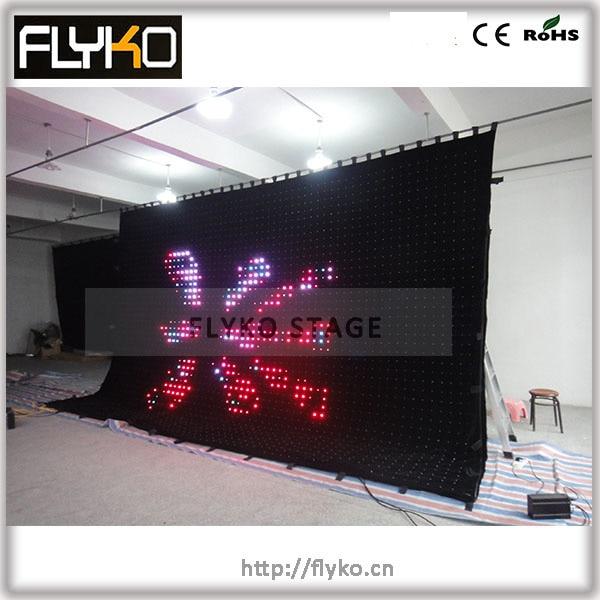 4 м* 6 м p100mm высокая яркость светодиодный экран занавес PC контроллер