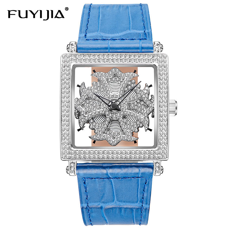 New square watches women quartz watches ladies fashion watch top brand luxury waterproof watch hollow bracelet clock Female