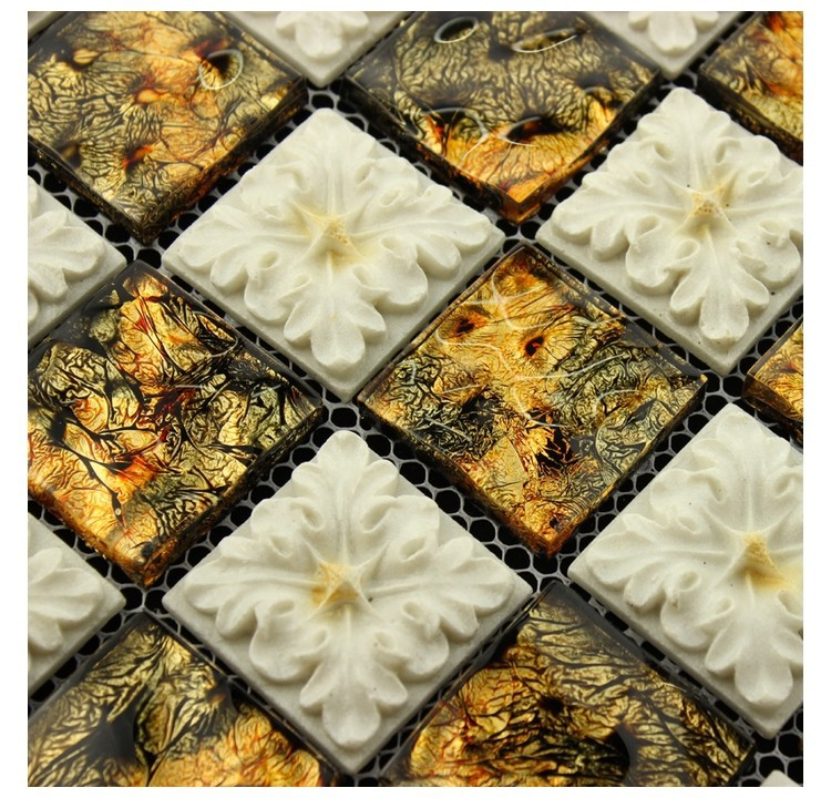 Plexigl Gl Mosaic Tiles Bathroom