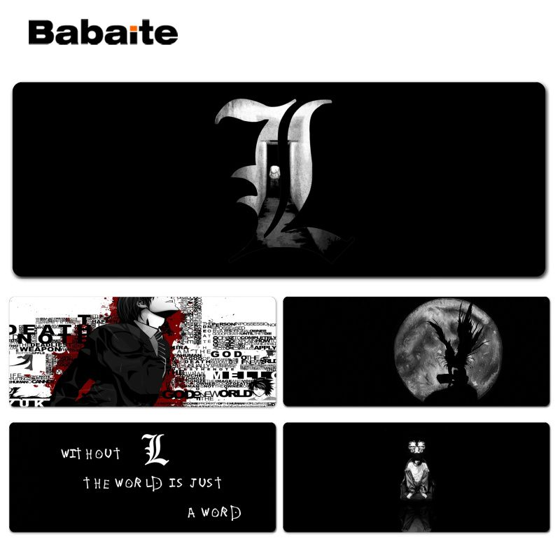Babaite Cool New Death Note gamer play mats Lockedge Mousepad Size for 30x90cm 40x90cm Speed Mouse Pad