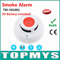 10PCS/Lot Wireless Smoke/Fire Alarm detector TM-VKL001 With Infrared Photoelectronic Sensor GSM Home Security System