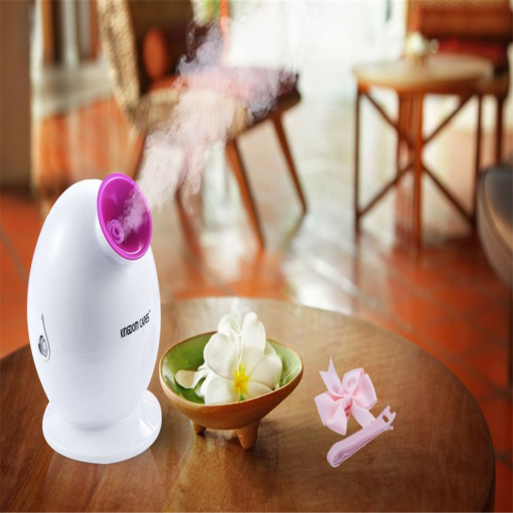 Facial Steamer Cleansing Hot Mist Humidifier Sprayer KINGDOM CARES Anti-acne Pimples Pores Acne Mask Moisturizing Skin KD-233 фасад мдф со стеклом сантук 716х446мм шампань светлый техно
