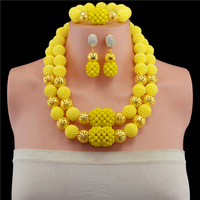 New Season 2016 Multicolours Nigerian Wedding African Beads Jewelry Sets Crystal Flower Necklace For Women