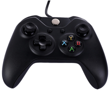 New Arrival  Black ABS Wired Game Controller USB Gaming Controller Gamepad Joystick for XBOX ONE PC Video Whosale