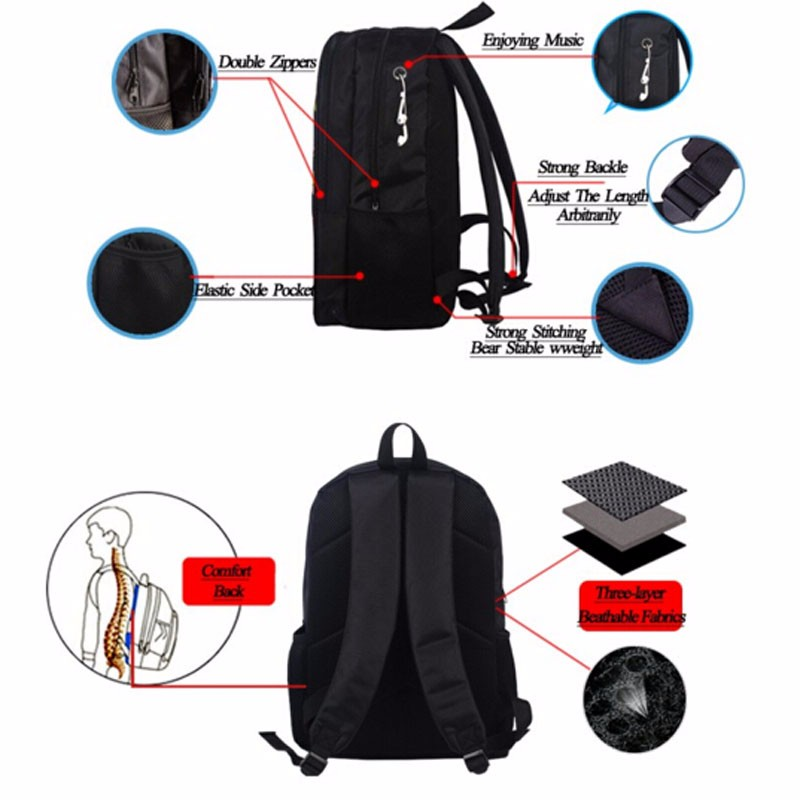 5ed4bd73b411 16Inch EXO Backpack Double Zipper Polyester Space Backpack Girls ...