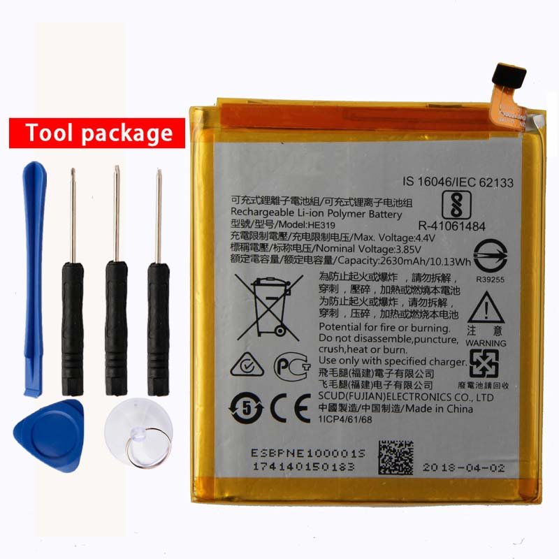 Original High Capacity HE319 phone battery for <font><b>Nokia</b></font> <font><b>3</b></font> TA-1020 <font><b>1028</b></font> 1032 1038 2630mAh image