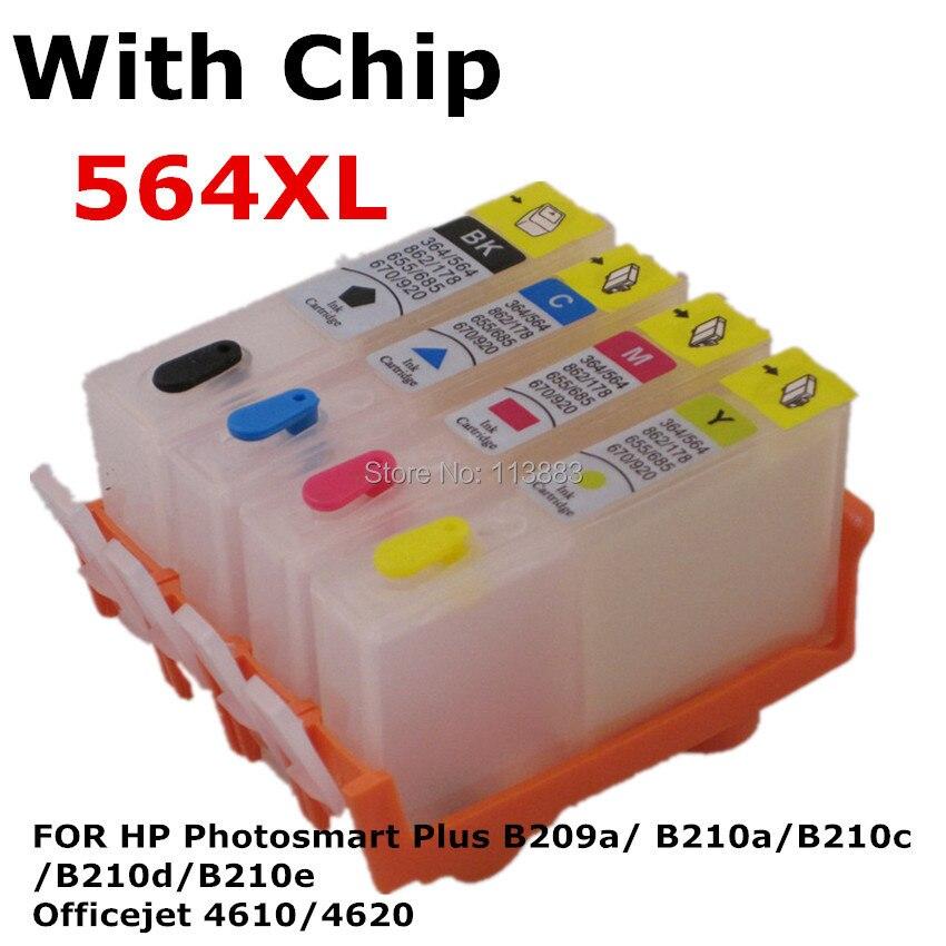 HP 564 178 364 920 B109a B209a B110a B210a refillable ink cartridge 4pcs Empty