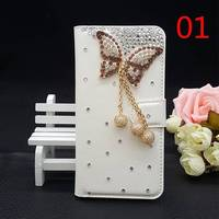 25 Styles For Samsung Galaxy Ace Plus S7500 Handmade Bling Diamond Glitter Luxury Leather Cover Wallet