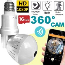 NEW 360 Video Camera Motion Detection Bulb Light Smart Cameras For Home Security 1.3MP 960P Panoramic Fisheye WIFI Video Camera(China)