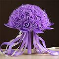 Purple Roses Wedding Bouquet Brides Maid artificial Flowers mariage Bridal Red Bouquets ramo de flores novia buque de casamento