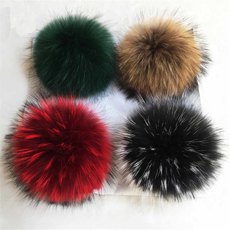 10pcs Fur Pom Ball Shoes Boots Hat Handbag Charms DIY Snap Button Primary Color 13cm Fur Pompom for Hats