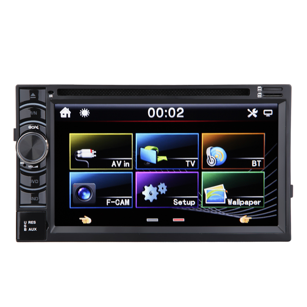 6.5 inch 2 Din Car Stereo Radio MP5 Player HD Touch Screen Car Audio DVD VCD CD Multi Player Support Bluetooth FM/USB/SD/AM/AV 2014 new 25 12v car radio cd dvd player cd player car mp3 radio player car cd player with usb sd car audio 1 din remove control