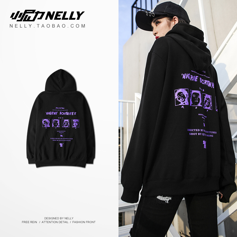 NELLY 2019 Autumn Winter European Style Hoodie Women Fashion Design Hip Hop Warm Oversized Cotton Modis Men's Sweatshirt(China)