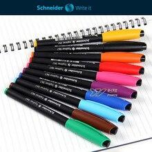10 Colors/Set Germany Schneider Topliner 967 Line Drawing Pen Marker Pen Technical Needle Pen Gel Painting Pen0.4mm Art Supplies
