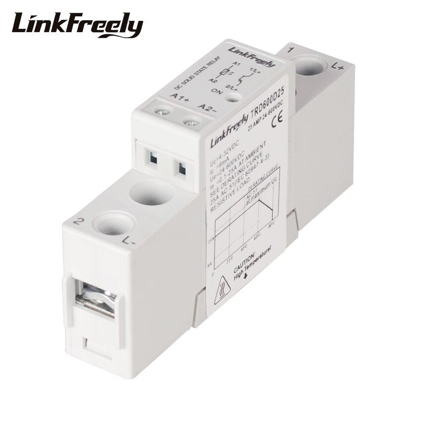 TRD600D25 25A 600VDC Mini DC Solid State Relay Board DC-DC 5V 12V 24V 32VDC In Electronic Voltage Starter SSR Relay Module &Bank