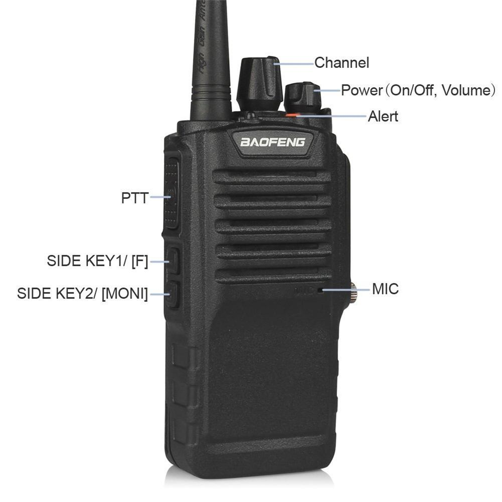 BAOFENG BF 9700 8W IP67 Waterproof Two Way Radio UHF400 520MHz FM Transceiver with 2800mAh battery Ham Radio Walkie talkie-in Walkie Talkie from Cellphones & Telecommunications