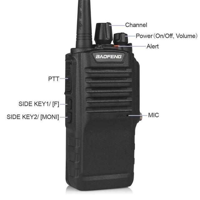BAOFENG BF 9700 8W IP67 Waterproof Two Way Radio UHF400 520MHz FM Transceiver with 2800mAh battery Ham Radio Walkie talkie