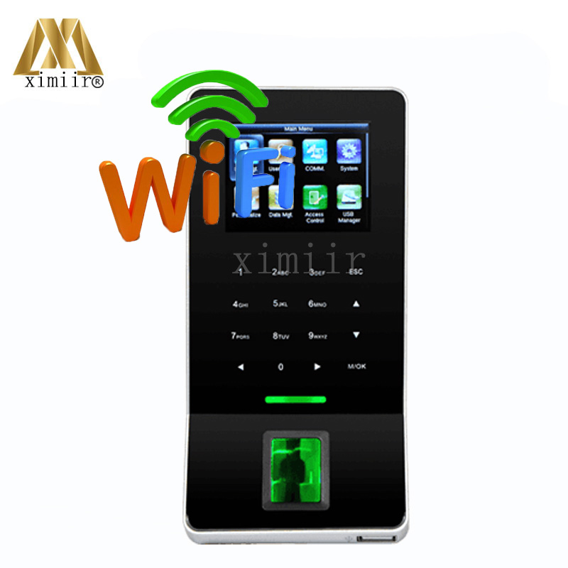ZK F22 Biometric Fingerprint Time Attendance And Access Control Color Screen With Keypad And WIFI TCP/IP USB Door Access Control zk vf300 face time attendance and access control with rfid card reader tcp ip touch screen facial door access controller system