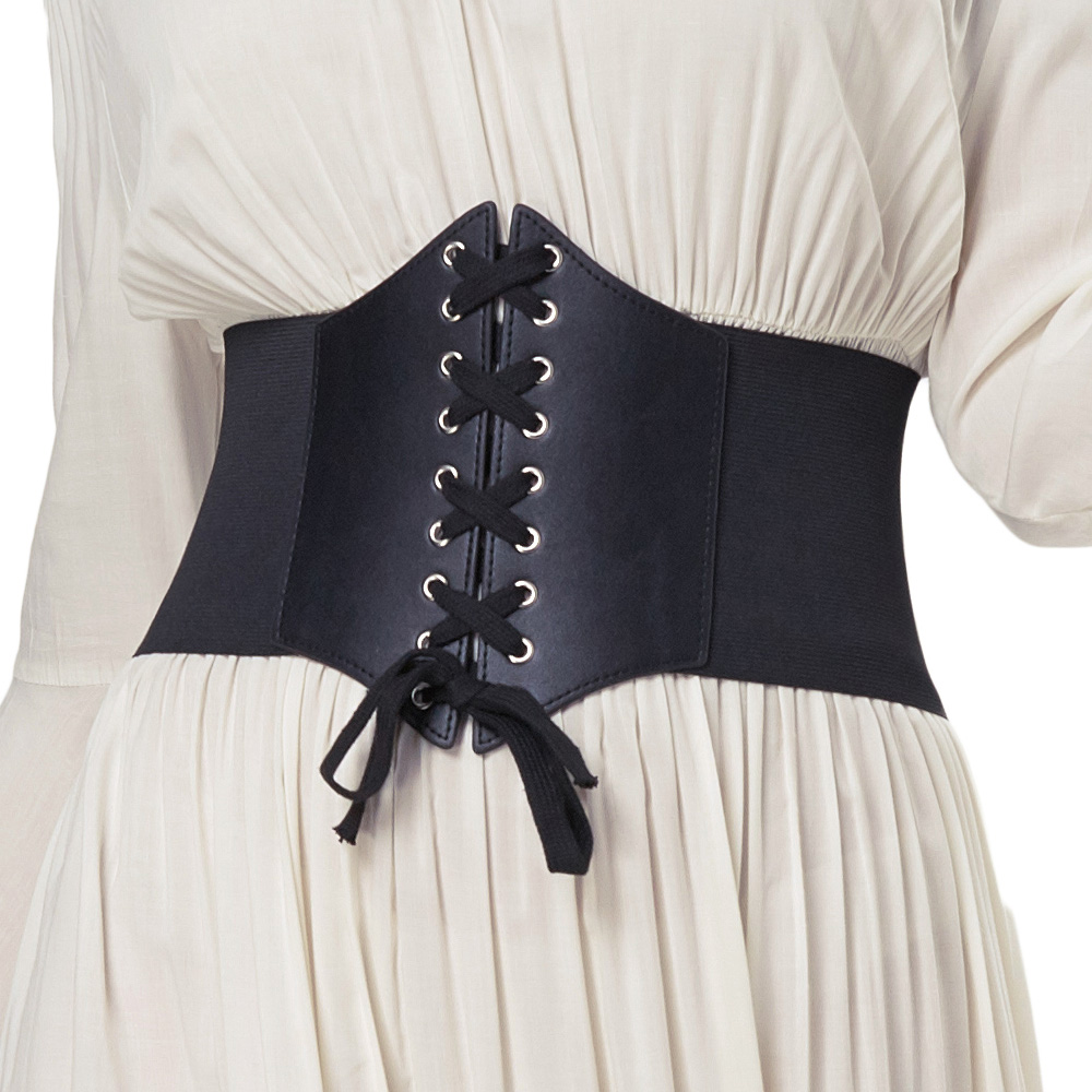 Plus Size 3XL Corset Belt For Womens 2018 Fashion Lace Up PU Leather Luxury Belt Cinch Tie Corset Waist Wide Belt Waistband