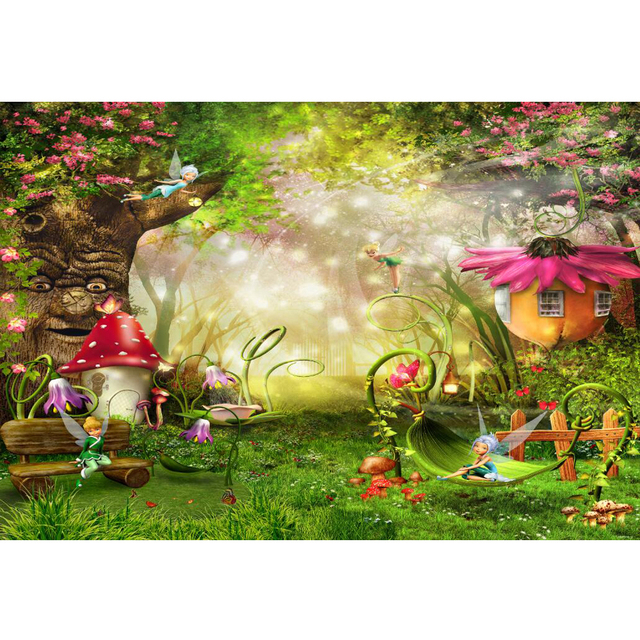 Fairytale Wonderland Enchanted Forest Background Old Tree