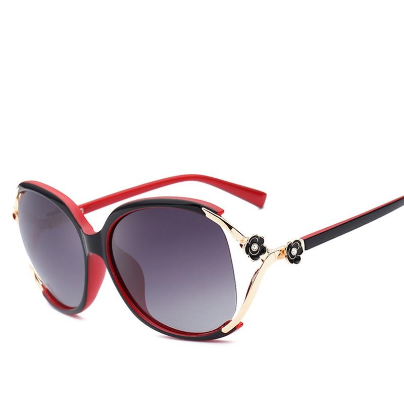 Polarized New Fashion Brand Designer Sunglasses for Women Channel Luxury Superstar Vintage Big Oversized Clear Frame