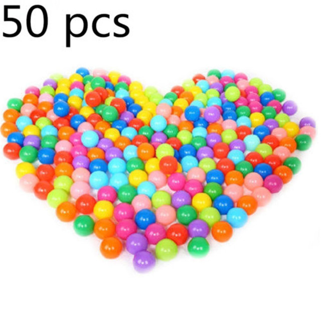 50pcs 6CM Multi Coloured PE Ocean Ball Soft Ball Kids Bath Tent ...