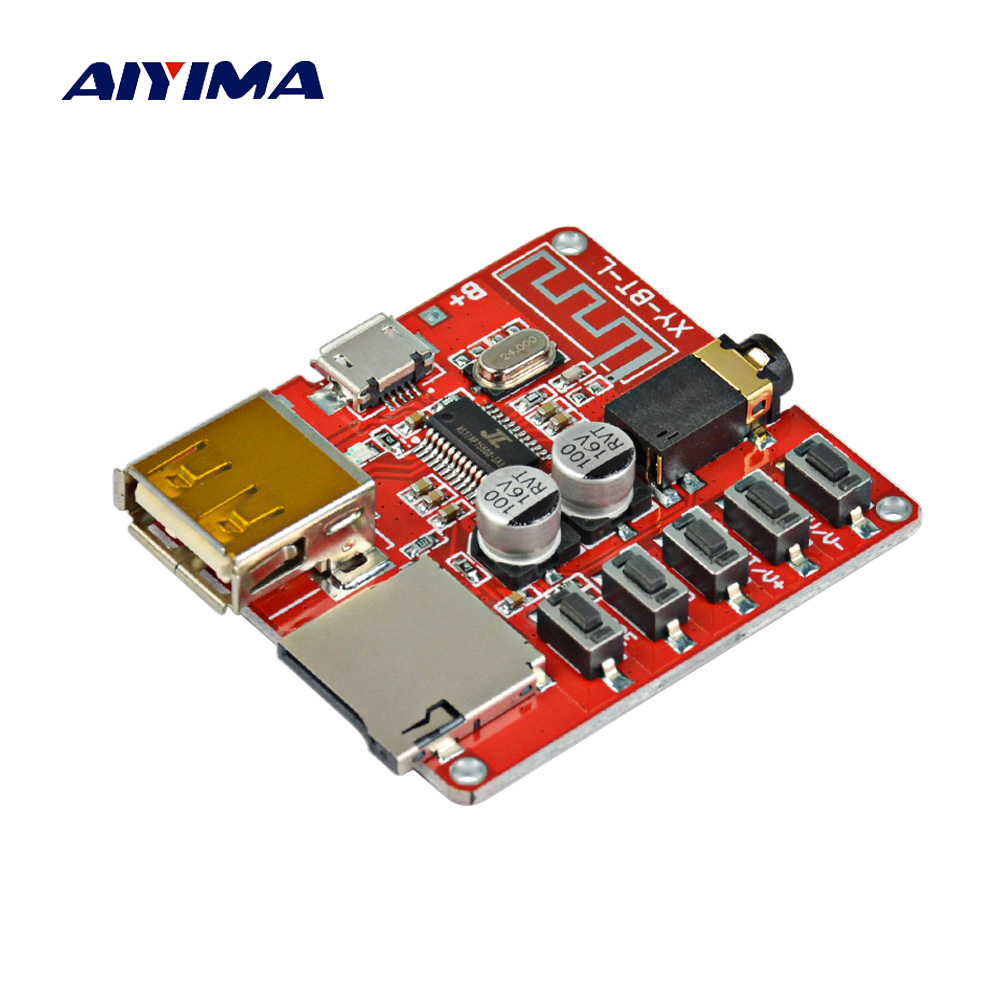 Aiyima 4.1 Bluetooth MP3 Decoding Board 3W Lossless Car Speaker Amplifier Audio Receiver Support WAV APE FLAC